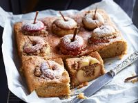 Golden Baked Fruit Squares recipe