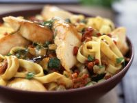 Golden Chicken and Courgette Pasta recipe