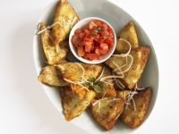 Golden Pan-fried Pasta Pockets recipe