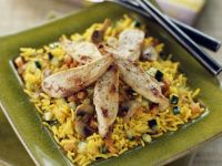 Golden Rice with Sliced Chicken recipe