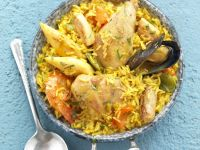 Golden Spanish Rice with Chicken recipe