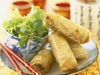 Golden Spring Rolls with Chicken recipe