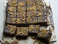 Gooey Chocolate and Nut Squares recipe