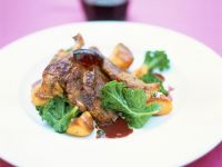 Goose Breast with Baked Potatoes
