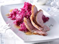Goose Breast with Ginger Red Cabbage recipe