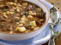 Goose Soup with White Beans and Potatoes recipe