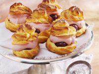 Gooseberry Cream Choux Buns recipe