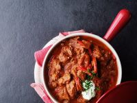 Goulash with Paprika and Sour Cream recipe