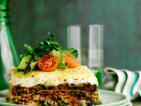 Gourmet Beef and Spinach Pasta Bake recipe