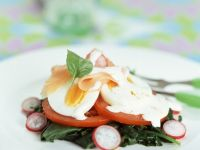 Gourmet Egg and Smoked Salmon Plate recipe