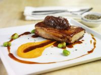 Gourmet Pork Belly with Carrot Puree recipe