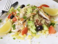 Grain and Chicken Salad with Lemon recipe