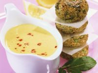 Grain Dumplings with Sweet and Spicy Hollandaise Sauce recipe