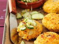Grain Patties with Vegetables recipe