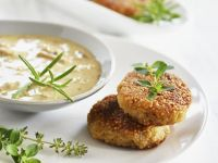Grain Patties with Veggie Sauce recipe