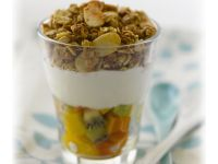 Granola, Fruit Salad and Yogurt Parfait recipe
