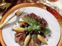 Grape Salad with Turnips and Goose Liver recipe