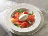 Grapefruit Salad with Ice Cream recipe