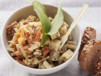 Grated Carrot and Apple Salad with Cheese recipe