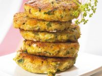 Greek Cheese and Veggie Patties recipe