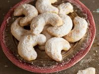 Greek Orange Blossom Crescent Cookies recipe