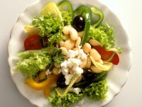 Greek Salad with Broad Beans recipe