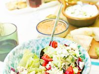 Greek Salad with Red Onion, Tomato, Cucumber and Feta recipe