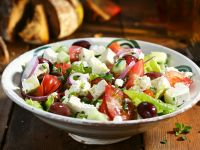 Greek-style Feta, Red Onion, and Olive Salad recipe