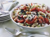 Greek-style Fusilli Salad recipe