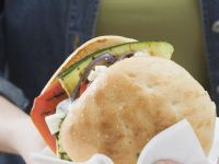 Greek-style Grilled Vegetables Rolls recipe