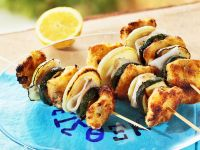 Greek-Style Grilled Zucchini-Fish Skewers recipe