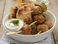 Greek-Style Lamb Meatballs (Kofta) with Yogurt Sauce recipe