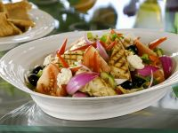 Greek-style Salad with Griddled Chicken recipe