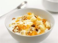 Greek Yogurt with Apricots, Apples and Nuts recipe