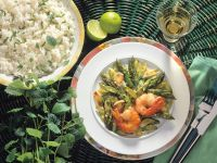 Green Asparagus with Shrimp recipe