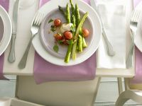 Green Asparagus with Tomatoes recipe