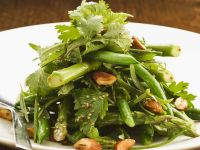 Green Bean and Asparagus Salad with Almonds recipe