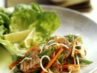 Green Bean and Carrot Salad with Pork recipe