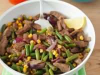Green Bean, Corn, and Beef Skillet Fry recipe