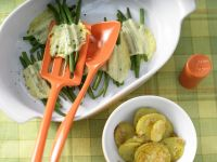 Green Bean Parcels with Roast Potatoes