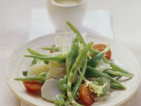 Green Bean Salad with Jerusalem Artichokes and Cherry Tomatoes recipe