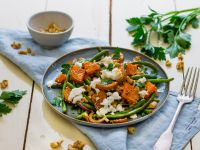Green Bean Salad with Roasted Sweet Potato recipe