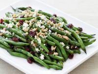 Toasted Walnut, Cranberry, and Blue Cheese Green Bean Salad recipe