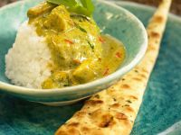 Green Indian Curry with Naan recipe