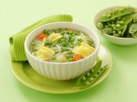 Green Minestrone with Ravioli recipe