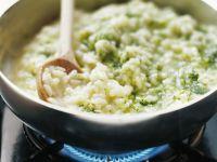 Green Risotto with Pesto recipe