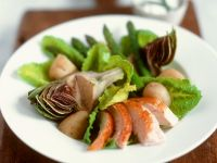 Green Salad with Artichoke and Chicken recipe