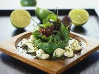 Green Salad with Scallops recipe