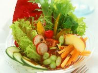 Green Salad with Vegetables recipe