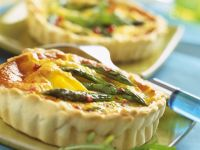 Green Spear and Cheese Tartlet recipe